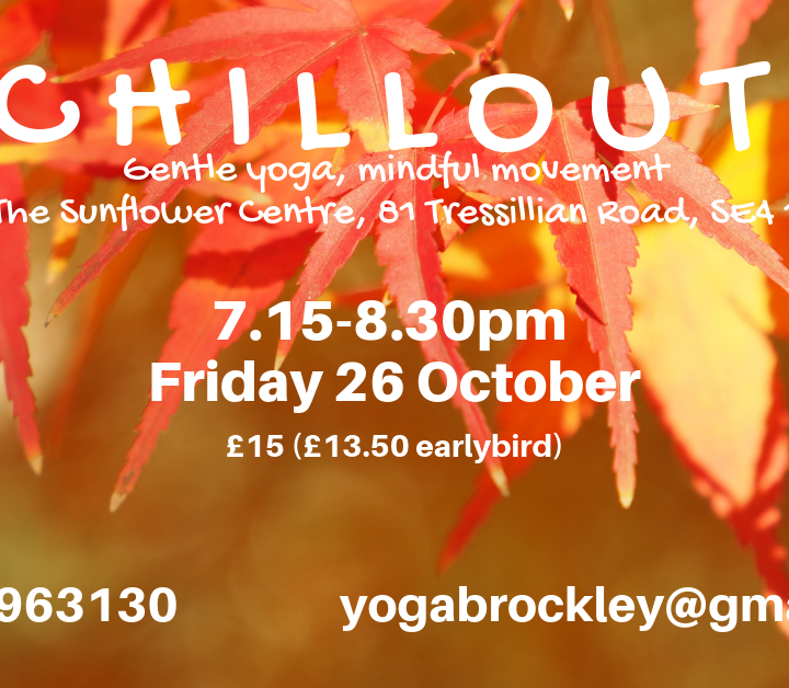 Chill Out Fridays Workshops